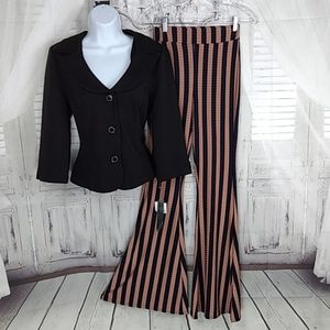 NASTY GAL FLARED STRIPED PANT